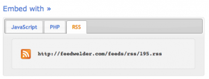 RSS feed from combined feeds